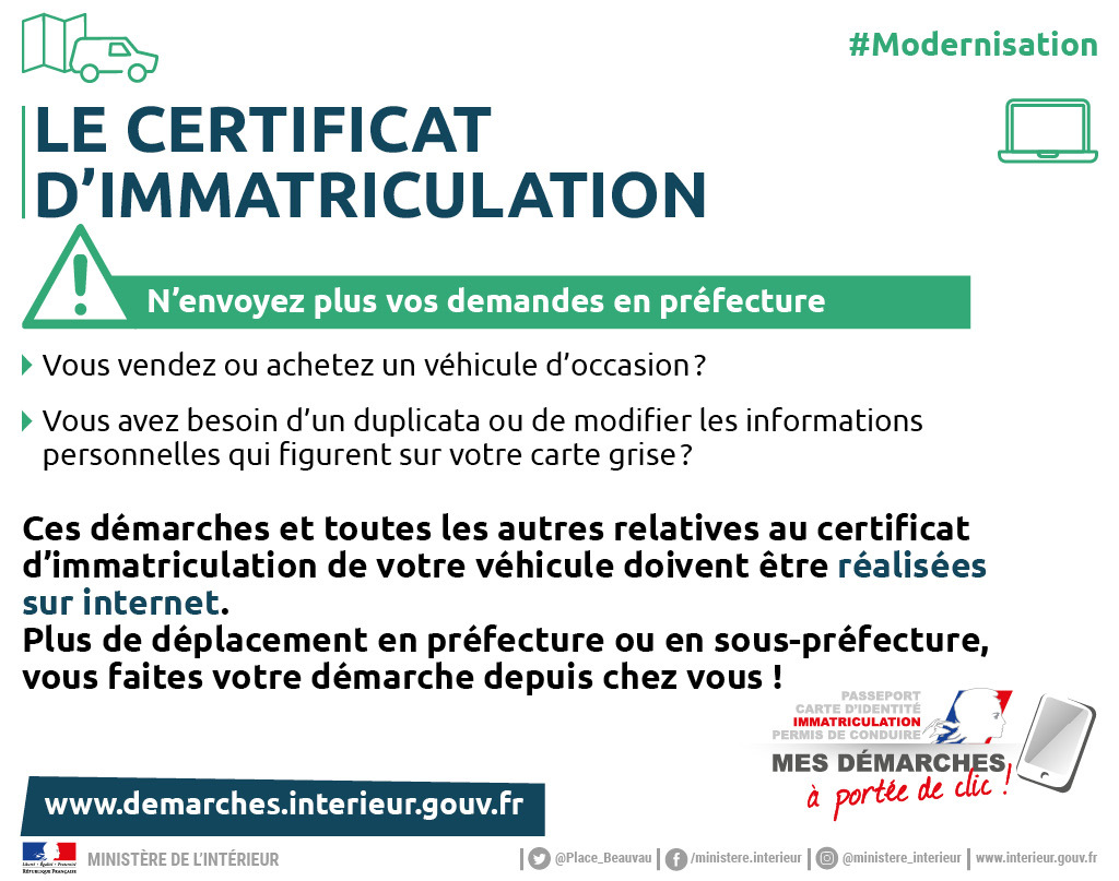 préfecture loire atlantique carte grise Immatriculation des véhicules / Circulation / Démarches