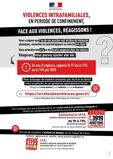 Affiche violences confinement