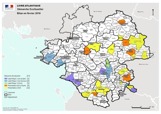 Carte Des Collectivites Dans La Demarche Ecoquartiers En Loire