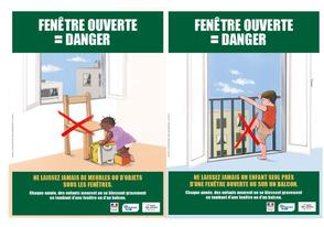 Campagne nationale 2017 de prévention des défenestrations accidentielles d'enfants.