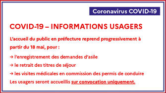 COVID-19 – INFORMATIONS USAGERS